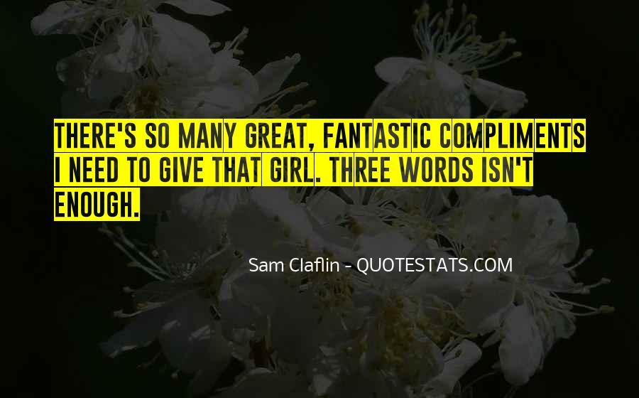 Sam Claflin Quotes #217534