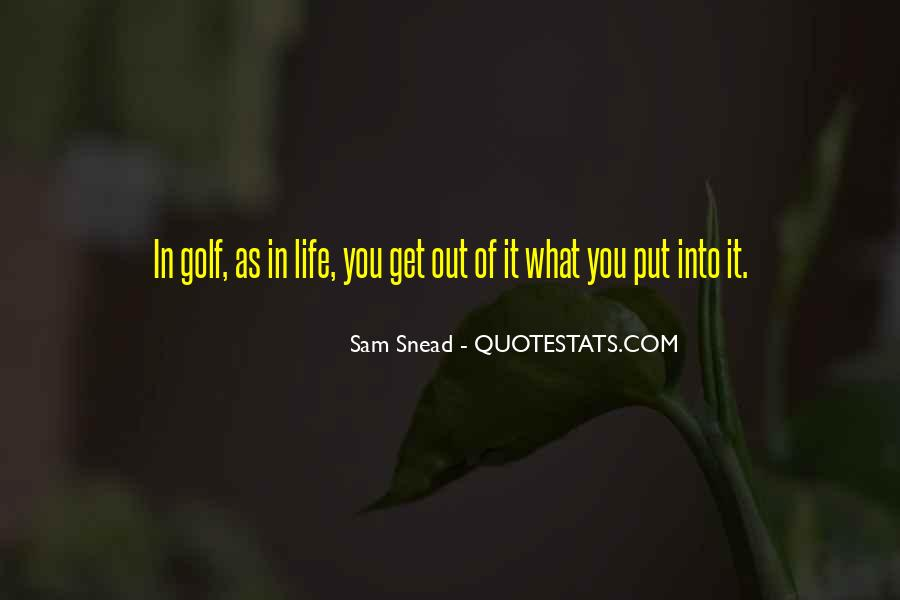 Sam Snead Quotes #1088251