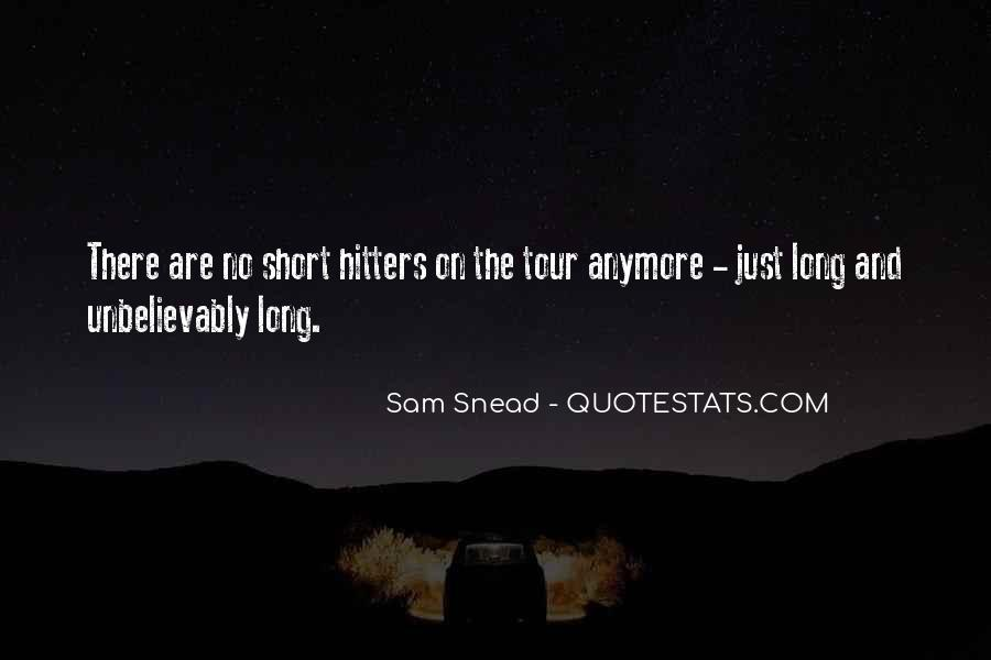Sam Snead Quotes #41432