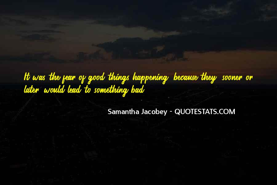 Samantha Jacobey Quotes #1229256