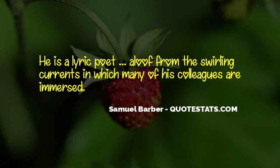 Samuel Barber Quotes #422236