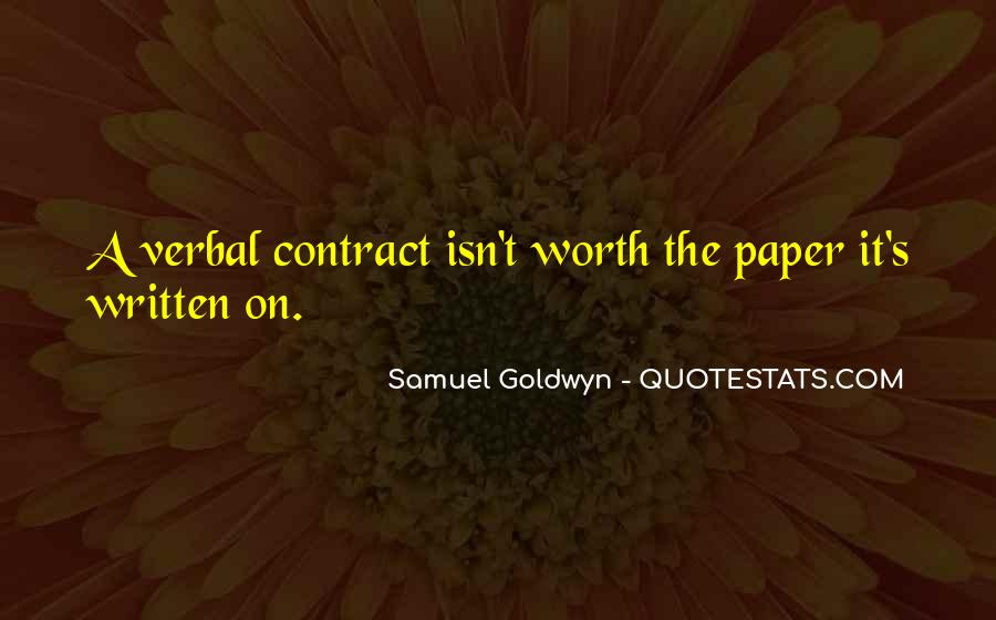 Samuel Goldwyn Quotes #175760