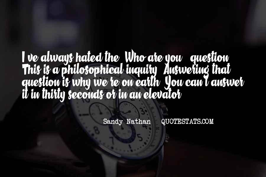 Sandy Nathan Quotes #947724