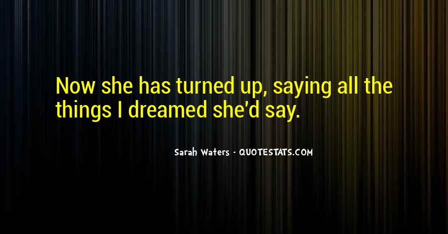 Sarah Waters Quotes #34556