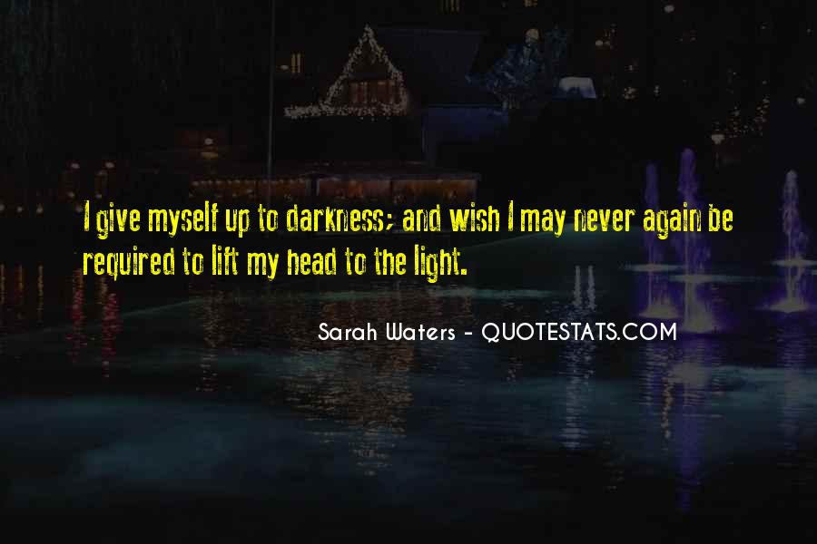 Sarah Waters Quotes #42898
