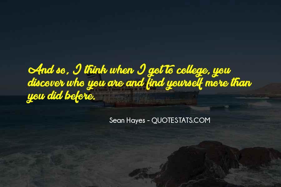 Sean Hayes Quotes #1873138