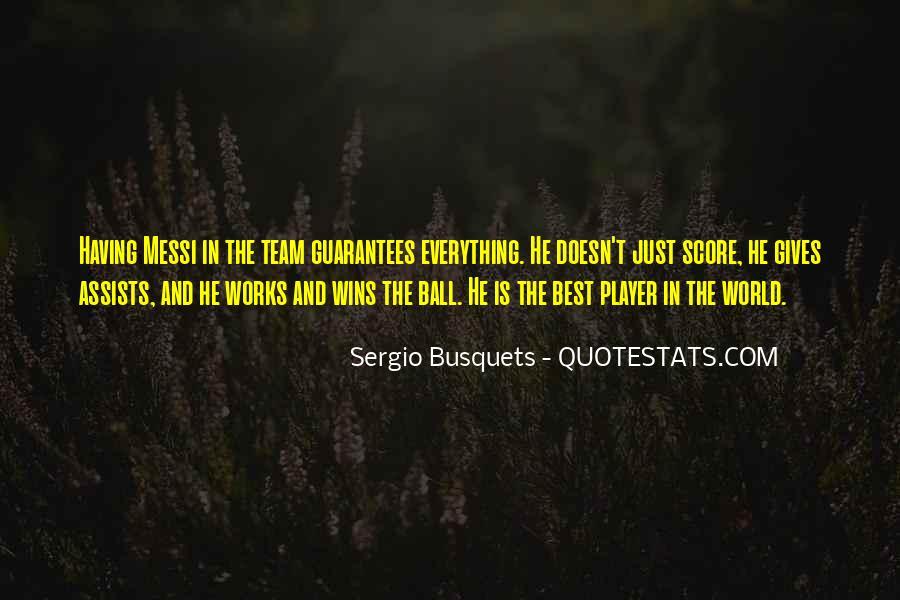 Sergio Busquets Quotes #778888
