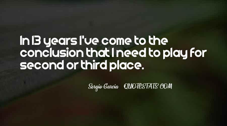 Sergio Garcia Quotes #516025