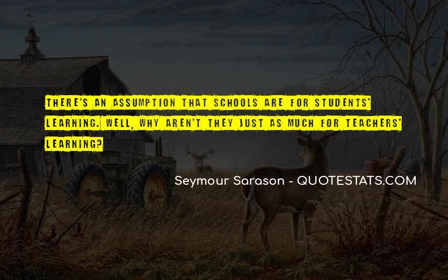 Seymour Sarason Quotes #907850