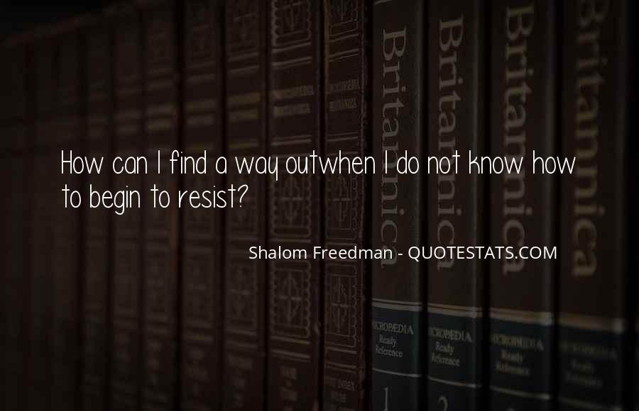 Shalom Freedman Quotes #1596764