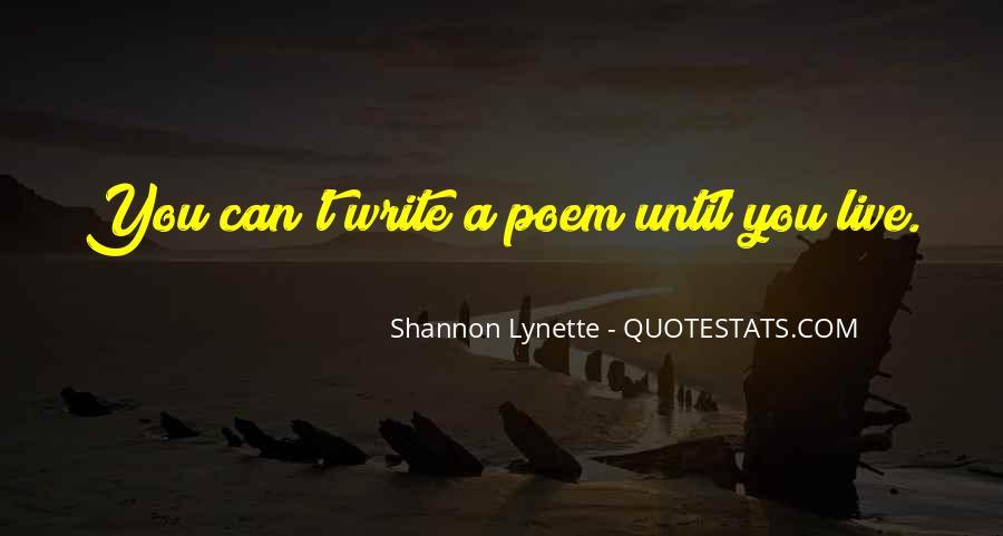 Shannon Lynette Quotes #888183