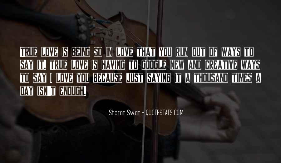 Sharon Swan Quotes #1263948