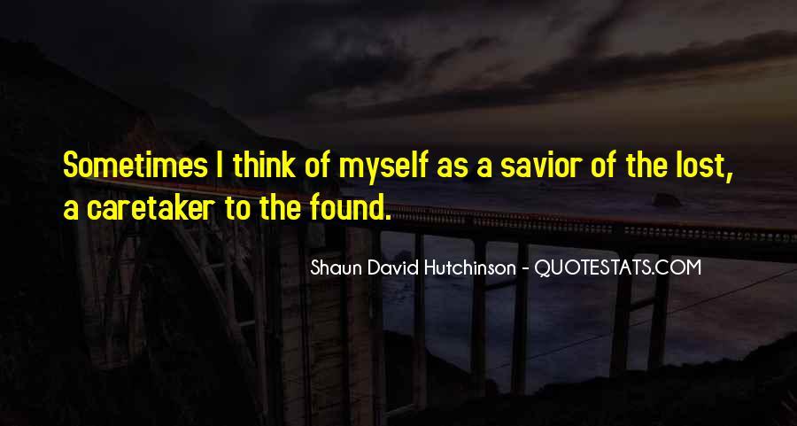 Shaun David Hutchinson Quotes #79614