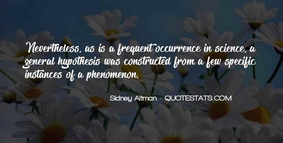 Sidney Altman Quotes #217279