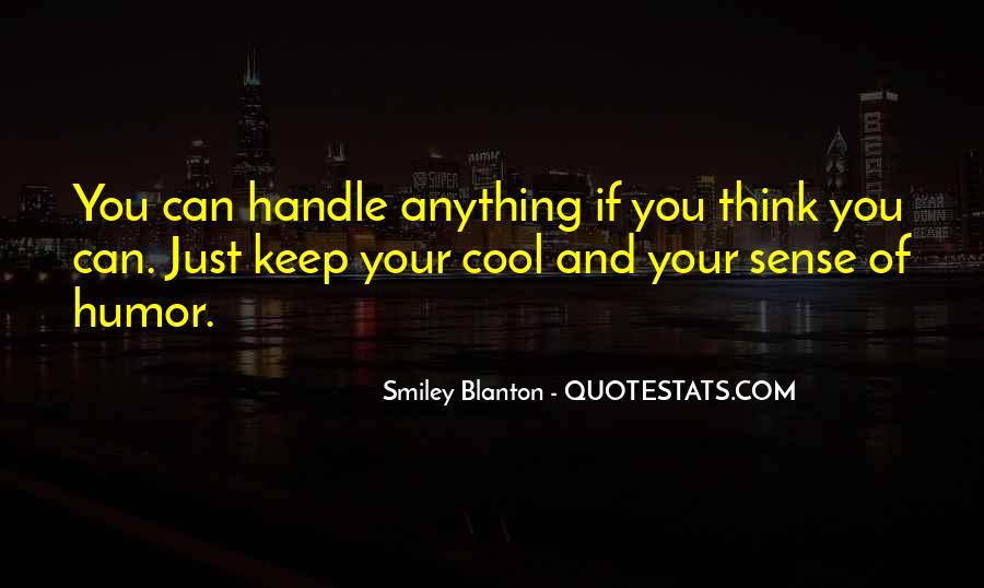 Smiley Blanton Quotes #1046575