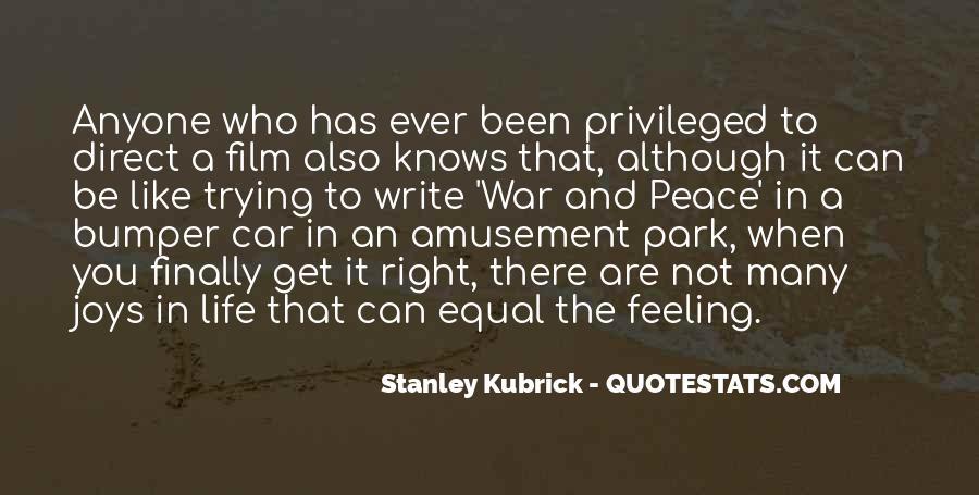 Stanley Kubrick Quotes #48550
