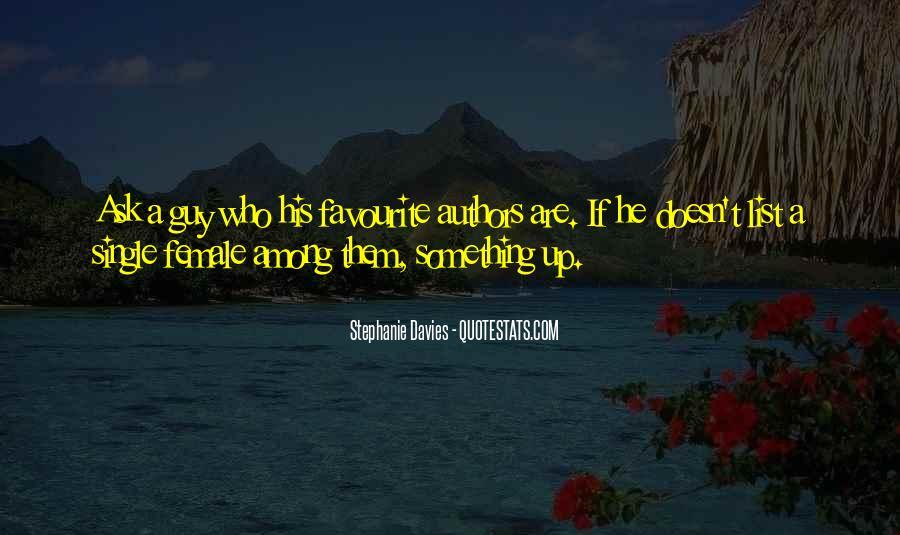 Stephanie Davies Quotes #322127