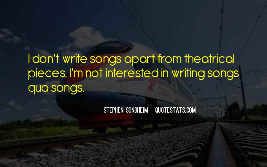 Stephen Sondheim Quotes #1739073