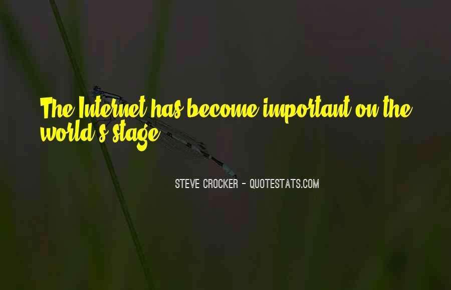 Steve Crocker Quotes #51494