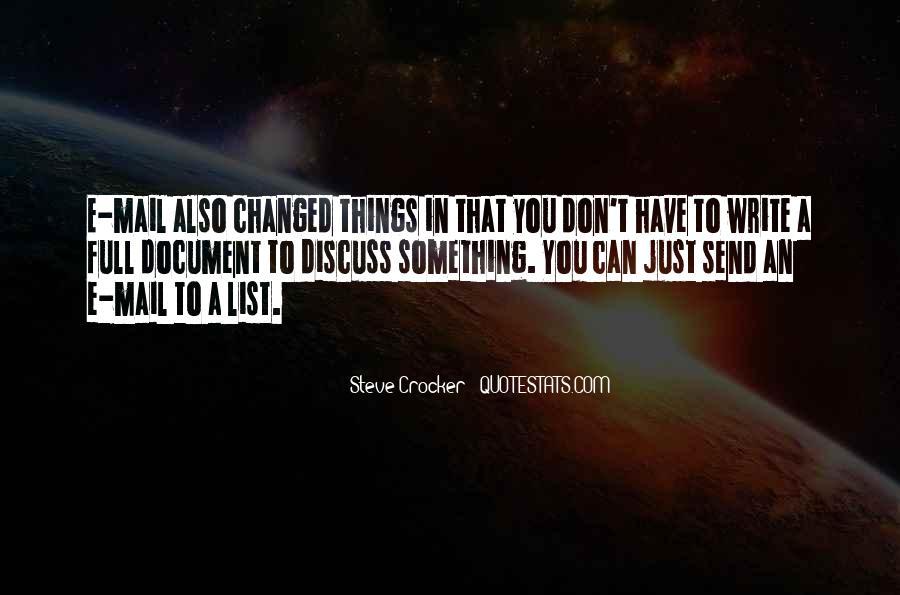 Steve Crocker Quotes #889137