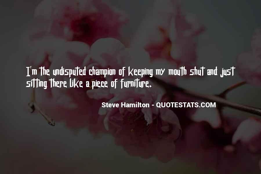 Steve Hamilton Quotes #871279