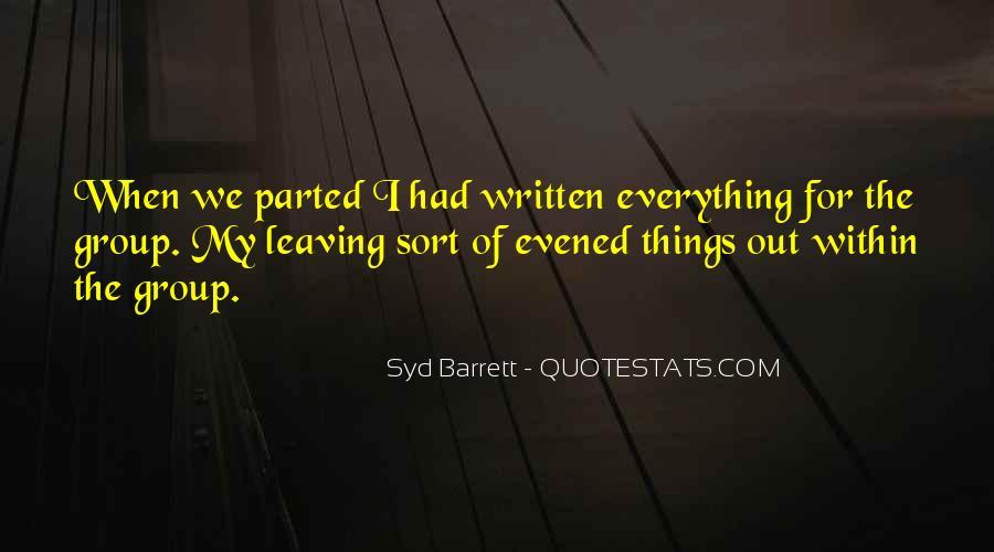 Syd Barrett Quotes #1107113