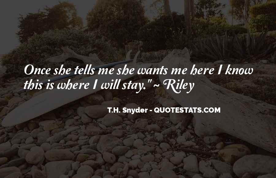 T.H. Snyder Quotes #607355