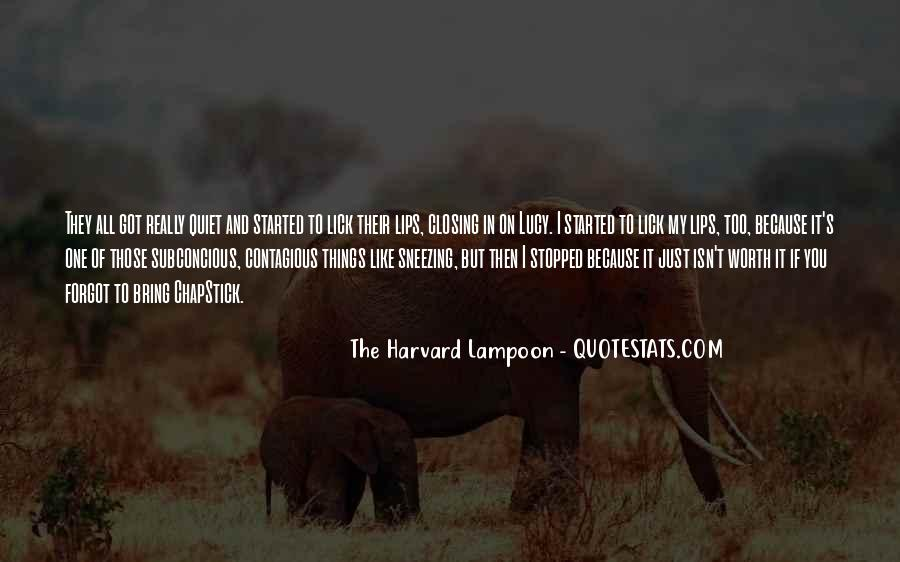 The Harvard Lampoon Quotes #208132