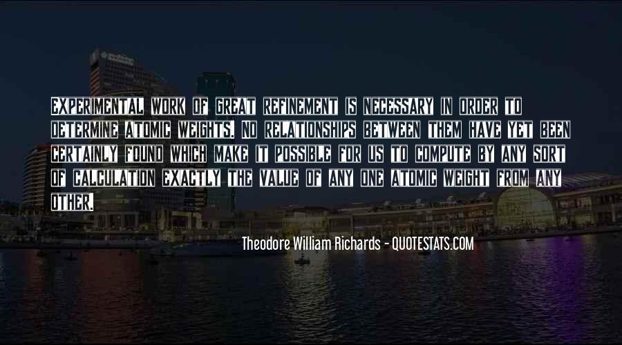 Theodore William Richards Quotes #574620