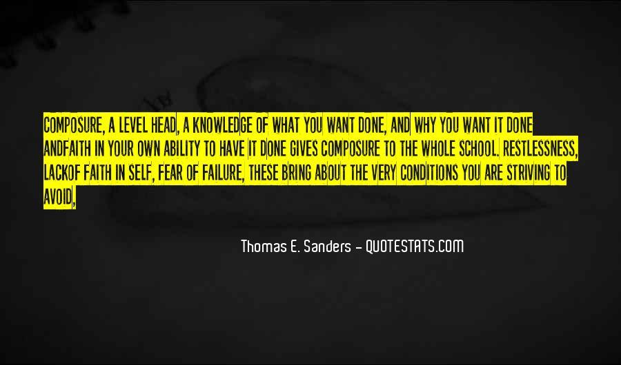 Thomas E. Sanders Quotes #1110012