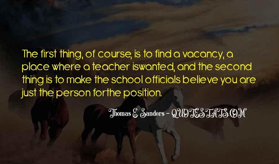 Thomas E. Sanders Quotes #1587820
