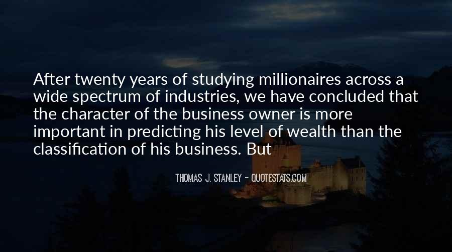 Thomas J. Stanley Quotes #686371