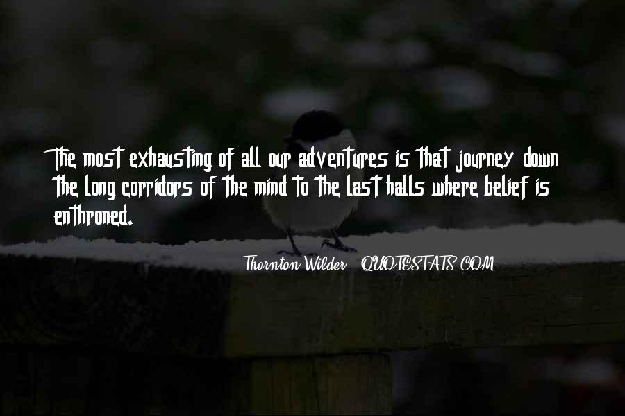 Thornton Wilder Quotes #276963