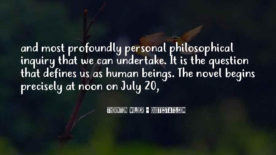 Thornton Wilder Quotes #370901
