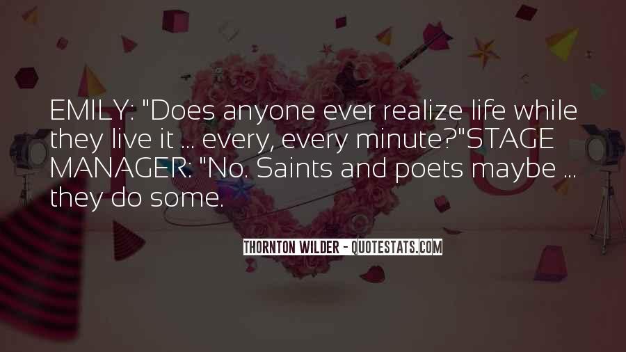 Thornton Wilder Quotes #376267