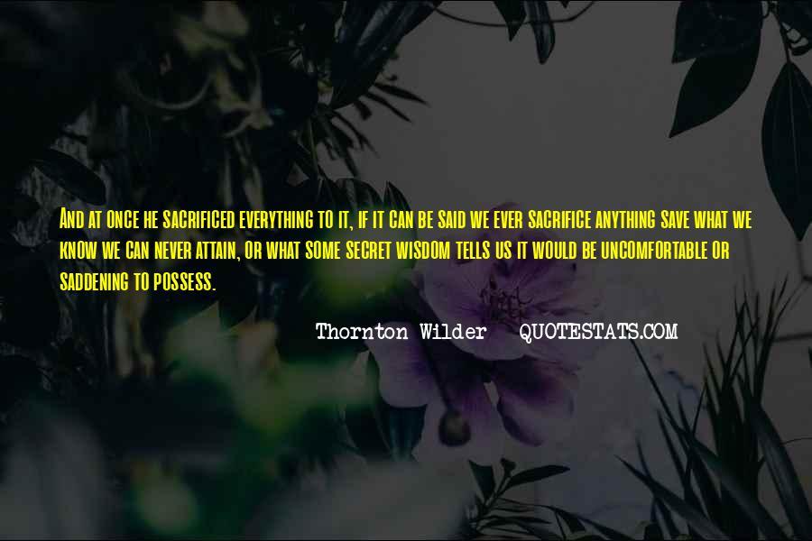 Thornton Wilder Quotes #757252