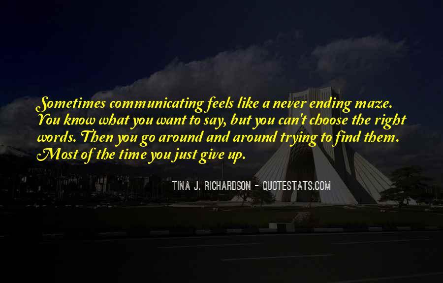 Tina J. Richardson Quotes #1565769