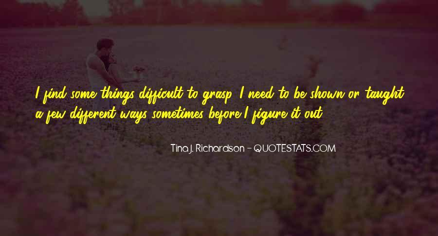 Tina J. Richardson Quotes #256305