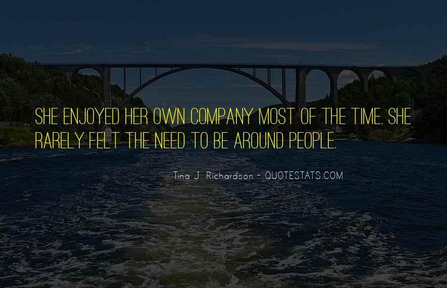 Tina J. Richardson Quotes #469011