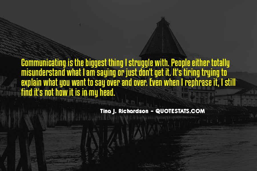 Tina J. Richardson Quotes #647471