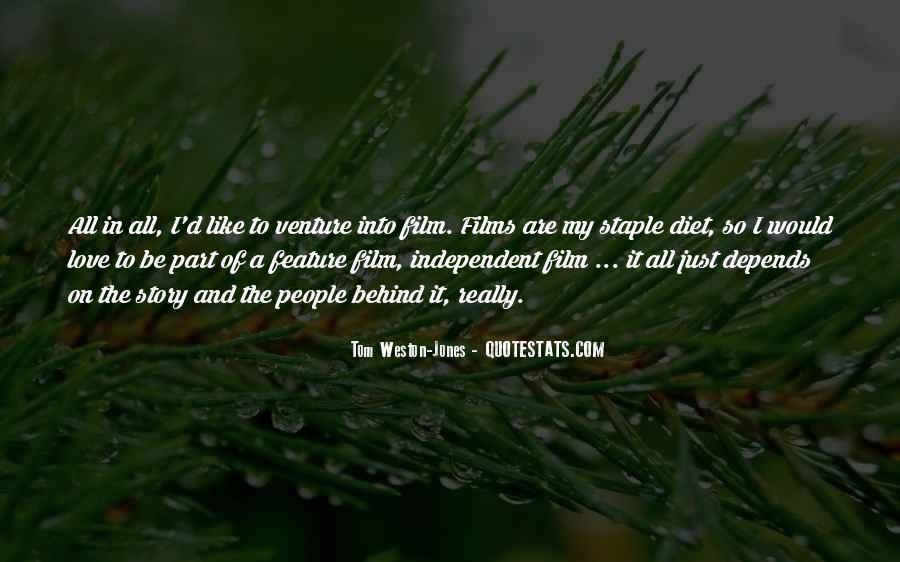 Tom Weston-Jones Quotes #1087646