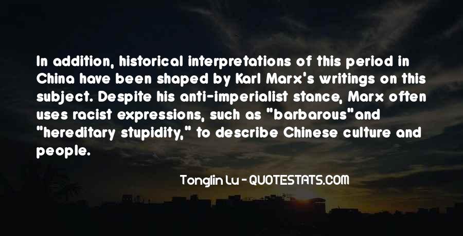 Tonglin Lu Quotes #1055058