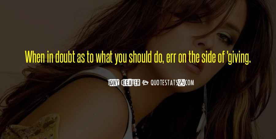 Tony Cleaver Quotes #1653104