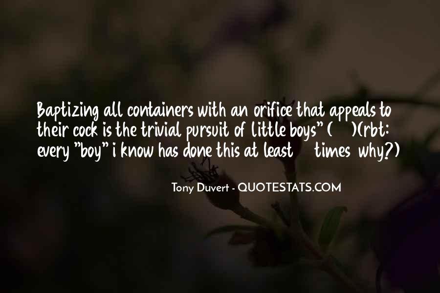 Tony Duvert Quotes #260520