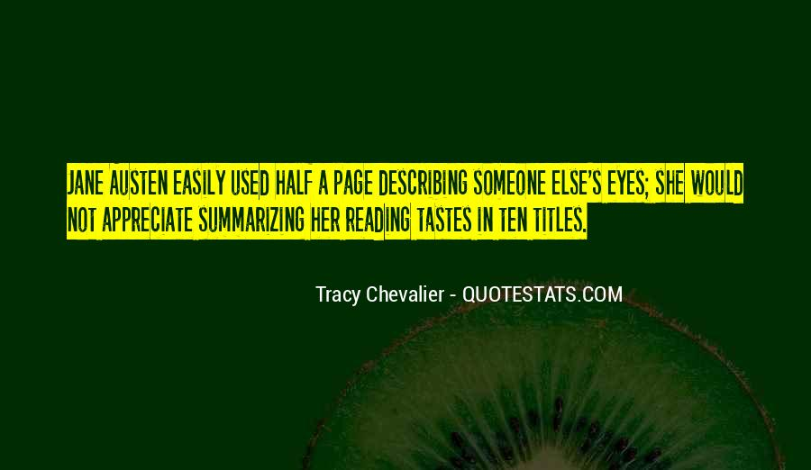 Tracy Chevalier Quotes #1374572