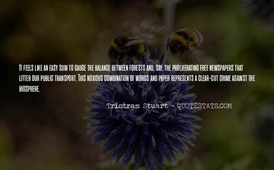 Tristram Stuart Quotes #1343517