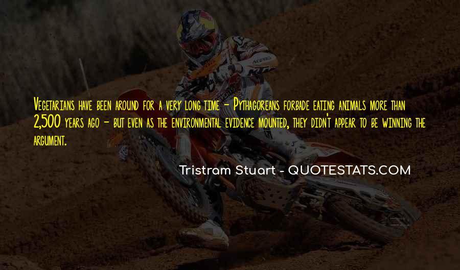 Tristram Stuart Quotes #1605284