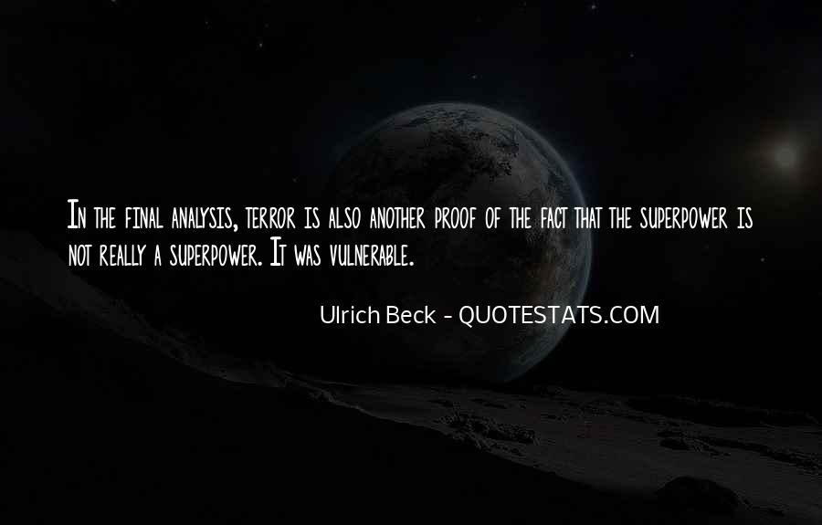 Ulrich Beck Quotes #250563