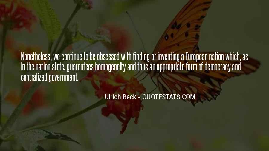 Ulrich Beck Quotes #847957