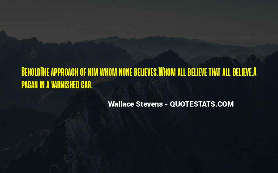 Wallace Stevens Quotes #1086495